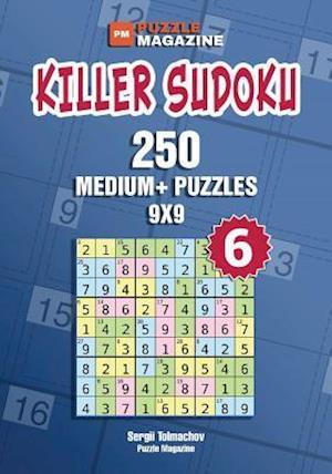 Bog, paperback Killer Sudoku - 250 Medium+ Puzzles 9x9 (Volume 6) af Sergii Tolmachov