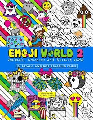 Bog, paperback Emoji World 2 (Coloring Book) af Dani Kates