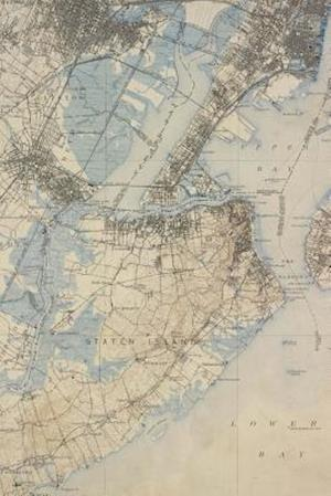 Bog, paperback A Vintage Map of Staten Island, New York in 1900 af Unique Journal