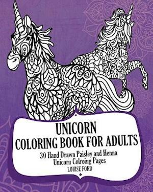 Bog, paperback Unicorn Coloring Book for Adults af Louise Ford