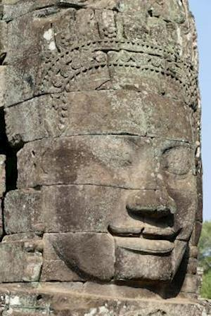 Bog, paperback Close-Up of Stone Faces in Bayon Temple Siem Reap Cambodia Journal af Cool Image