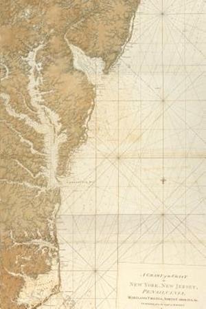 Bog, paperback A   Vintage 1780 Map Coast New York, New Jersey, Pennslvania, Maryland, Virginia af Unique Journal
