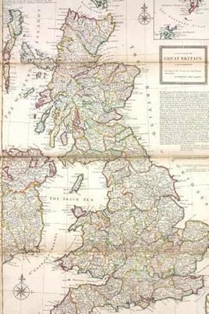 Bog, paperback A Vintage 1736 Map of Great Britain af Unique Journal