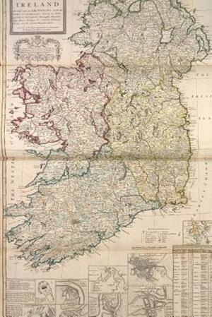 Bog, paperback A Vintage 1736 Map of Ireland af Unique Journal