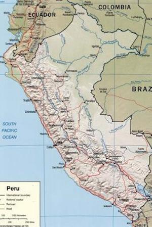 Bog, paperback Map of the South American Nation Peru af Unique Journal