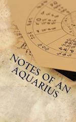 Notes of an Aquarius af Horoscope Blank Notebook
