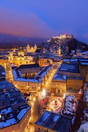 Bog, paperback Night View in Salzburg Austria Europe Journal af Cs Creations