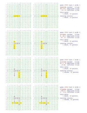 Bog, paperback Fifty Scrabble Box Scores Games 2951-3000 af MR Francis Gurtowski