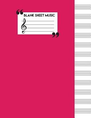 Bog, paperback Blank Sheet Music Paper af Me Journal