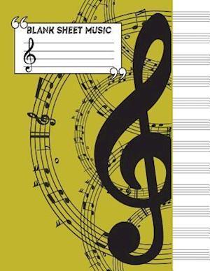 Bog, paperback Music Manuscript Notebook af Me Journal