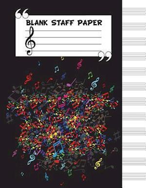 Bog, paperback Blank Staff Paper af Me Journal