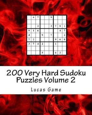 Bog, paperback 200 Very Hard Sudoku Puzzles Volume 2 af Lucas Game