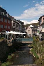 Running Through the City in Bad Munstereifel, Germany