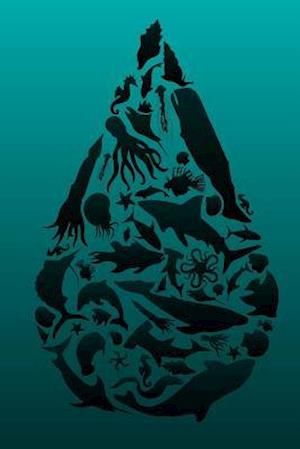 Bog, paperback Oil Drop Composed of Marine Animal Silhouettes Journal af Cool Image