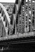 Hohenzollern Bridge in Black and White Crossing the River Rhine, Germany