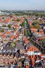 Aerial View of Old City Delft Holland Journal