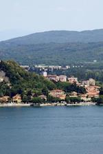 Aerial View of Angera, Italy and Lake Varese