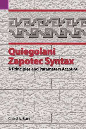 Quiegolani Zapotec Syntax af Cheryl Black