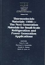 Thermoelectric Materials 1998 (Materials Research Society Symposia Proceedings)