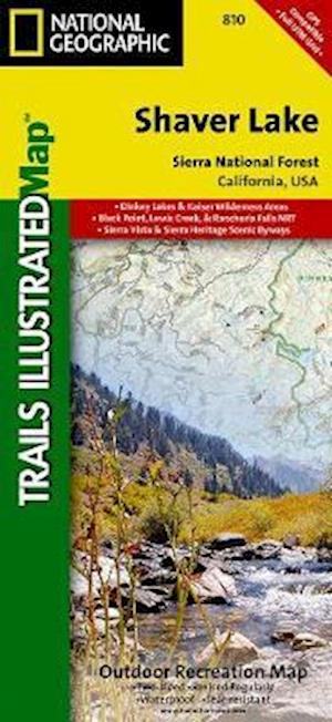 Bog, paperback National Geographic Trails Illustrated Topographic Map Shaver Lake Sierra National Forest af National Geographic Maps