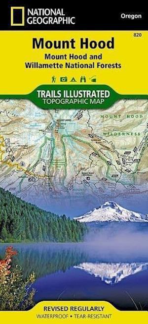 Ukendt format Mount Hood, Mount Hood & Willamette National Forests af National Geographic Maps