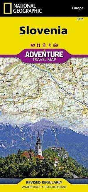 National Geographic Adventure Map Slovenia af National Geographic Maps