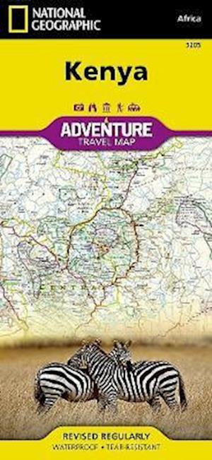 Ukendt format Kenya af National Geographic Maps