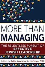 More Than Managing