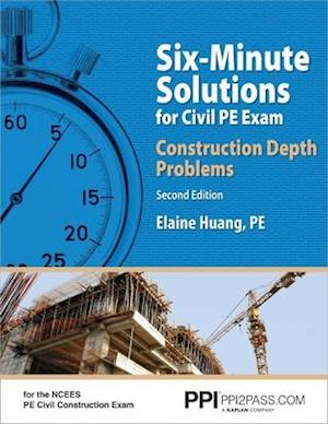 Bog, paperback Six-Minute Solutions for Civil PE Exam af Elaine Huang