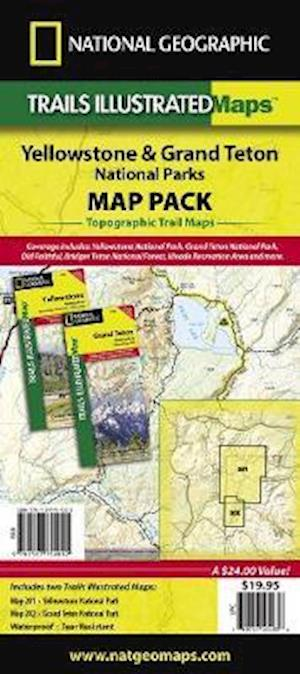 Yellowstone/Grand Teton National Parks, Map Pack Bundle af National Geographic Maps