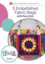 3 Embellished Fabric Bags (Iquilt)