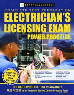 Bog, paperback Electrician's Licensing Exam Power Practice af Learning Express