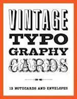 Vintage Typography Notecards af Princeton Architectural Press