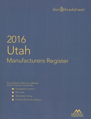 Bog, hardback Harris Utah Manufacturers Directory 2016 af Mergent