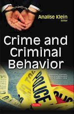 Crime and Criminal Behavior (Criminal Justice, Law Enforcement and Corrections)