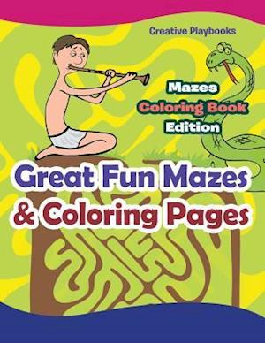 Bog, paperback Great Fun Mazes & Coloring Pages - Mazes Coloring Book Edition af Creative Playbooks