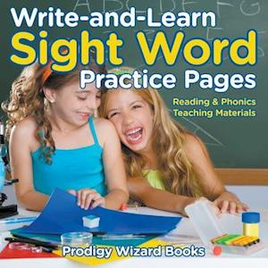 Bog, paperback Write-And-Learn Sight Word Practice Pages Reading & Phonics Teaching Materials af Prodigy Wizard Books