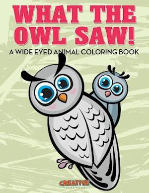 Bog, paperback What the Owl Saw! a Wide Eyed Animal Coloring Book af Creative Playbooks