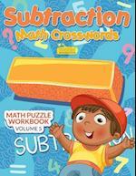 Subtraction - Math Crosswords - Math Puzzle Workbook Volume 5