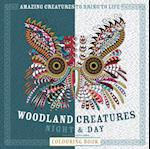 Woodland Creatures Night & Day Colouring Book (Night Day Colouring)