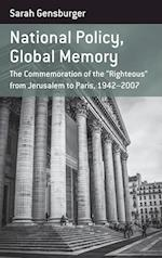 National Policy, Global Memory (Berghahn Monographs in French Studies)