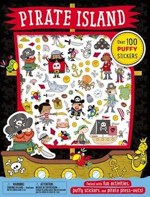Bog, paperback Puffy Stickers Pirate Island af Thomas Nelson