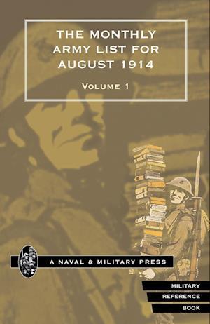 Bog, paperback Monthly Army List for August 1914 Volume One af War Office