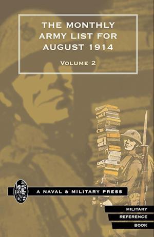 Bog, paperback Monthly Army List for August 1914 Volume Two af War Office