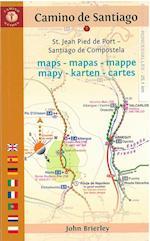 Camino de Santiago Maps - Mapas - Mappe - Mapy - Karten - Cartes af John Brierley