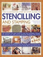 The Illustrated Step-By-Step Guide to Stencilling and Stamping af Sally Walton, Lucinda Ganderton, Stewart Walton