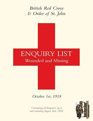 Bog, paperback British Red Cross and Order of St John Enquiry List for Wounded and Missing af British Red Cross