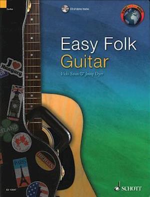 Bog, ukendt format Easy Folk Guitar af Jonny Dyer