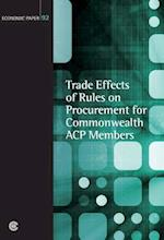 Trade Effects of Rules on Procurement for Commonwealth Acp Members af Peter Trepter, Andrew Butler, Peter Pease