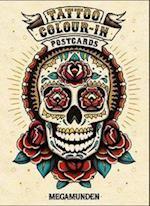 Tattoo Colour-In Postcards af Megamunden